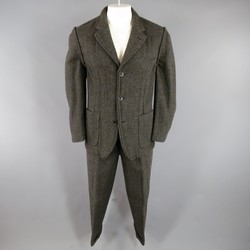 Vintage 1998 COMME des GARCONS Multi Color Blend Brown Reverse Seam 31 30 Suit