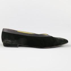Vintage CHANEL Size 9.5 Black Velvet Tuxedo Flats