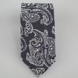 Vintage GIANNI VERSACE Black & White Paisley Silk Tie