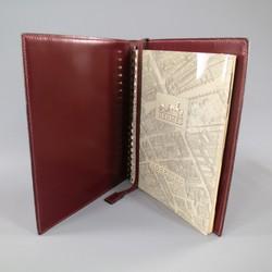 Vintage HERMES Burgundy Leather 'Adresses' Address Book