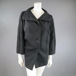Vintage ISSEY MIYAKE Size S Black Wrinkle Textured A Line VinatJacket
