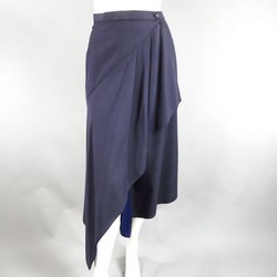 Vintage ISSEY MIYAKE Size S Navy Blue Wool Blend Wrap Skirt