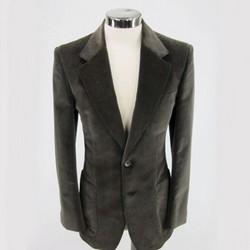 YVES SAINT LAURENT Size 36 Velvet Brown Long Sport Coat