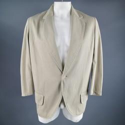 Y's by YOHJI YAMAMOTO 42 Long Khaki Cotton Sport Coat