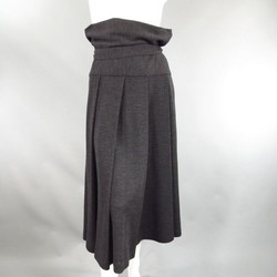 Y's by YOHJI YAMAMOTO Size L Charcoal Wool Pleated Skirt