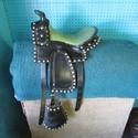"""12"""" Black India Leather SQHB USED Good Youth Saddle"""