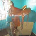 American Saddlery Roper 15 Leather FQHB USED Good Roper Saddle