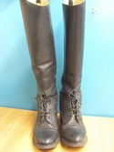 Effingham 7.5 Black Leather USED - Good Field Boots - Laced