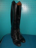 Ariat 9.5 Black Leather USED - Good Field Boots - Laced