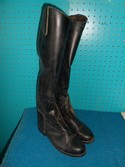 Devon Aire 8 Black Synthetic USED - Good Field Boots - Laced