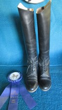 Effingham 9 Black Leather USED - Excellent Field Boots - Laced