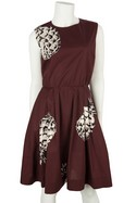 MSGM-Maroon-Sleeveless-Dress-with-Black-and-White-Floral-Print-Sz-10_30995A.jpg