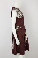 MSGM-Maroon-Sleeveless-Dress-with-Black-and-White-Floral-Print-Sz-10_30995B.jpg