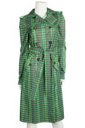 Oscar-de-la-Renta-Green-and-Brown-Plaid-Double-Breasted-Trench-Coat-Sz-2_29943A.jpg