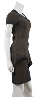 Yigal-Azrouel-NWT-Gray-and-Brown-Knit-Peplum-Dress-Sz-Medium_21518B.jpg