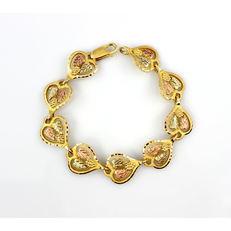 10k Black Hills Gold Bracelet 73006a Jpg
