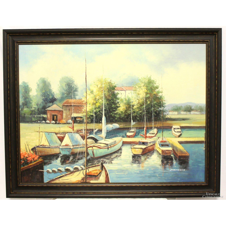 Original-Oil-Painting---Sailboats-in-Harbor_82090A.jpg