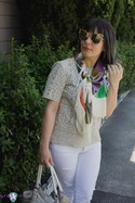 Green/Purple see by chloe Silk Scarf