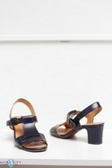 Navy Chie Mihara Leather Shoes