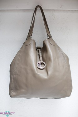 Silver Versace Leather New Without Tags Purse