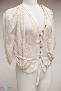 Size L Ivory Hanii Y. 100% Cotton Top